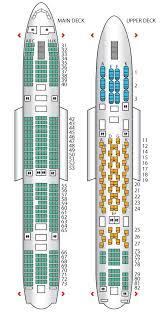 seat plan for the thai airways a380 800