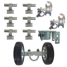 6 Chain Link Wall Mounted Rolling Gate Hardware Kit Chain Link Fence Gate Parts 6 Rut Runner 2 Track Wheels 6 Wall Mounted Track Brackets 1 Rolo Latch Walmart Com Walmart Com