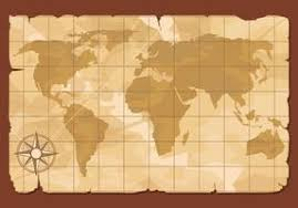 ancient world map free vector art 59