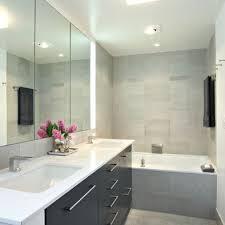 dark grey cabinets with white