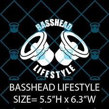 Basshead Lifestyle Bass Sub Subwoofer Car Audio Decal Sticker Free Shipping Ebay