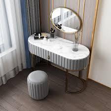makeup vanity set with drawer mirror