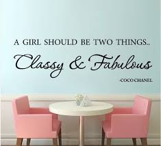 A Girl Should Be Classy And Fabulous English Famous Quote Emovable Vinyl Wall Decals Quote Sticker For Girls Room Wall Decor Stickers For Stickers For Girlsquote Sticker Aliexpress