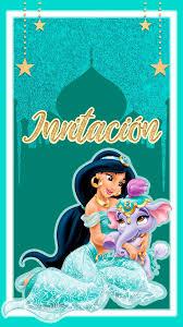 Tarjeta De Invitacion Digital Animada De La Princesa Jazmin En