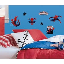 Roommates 10 In X 18 In Spiderman Ultimate Spiderman 22 Piece Peel And Stick Wall Decals Rmk1795scs The Home Depot