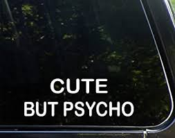 Amazon Com Sign Depot Cute But Psycho Decal Automotive
