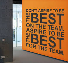 Be The Best For The Team Inspirational Large Wall Decal Quote Etsy Gym Wall Decal Vinyl Wall Decal Quote Wall Quotes Decals Office