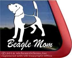 Amazon Com Beagle Mom Dog Vinyl Window Auto Decal Sticker Automotive