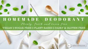 natural homemade deodorant wellness