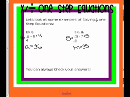 m6 7 ee2 l2 one step equations multiply