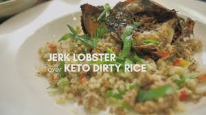 Keto Jerk Lobster & Dirty Rice - YouTube