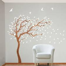 White Birch Tree Wall Decal Decor Ideas Home Inspirations Beauty Tree Wall Decals Ideas
