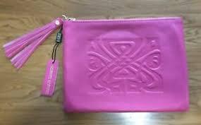 biba hot pink leather clutch bag