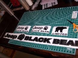 Jeep Wrangler Black Bear Jk Unlimited Fender Decals Sport Rubicon Jk