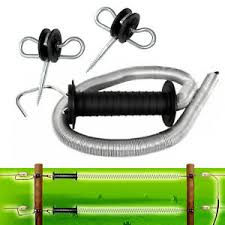Electric Fence Spring Gate Kit External Coil Gate Insulator Handle 5m Fencing Ebay