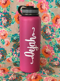 Custom Name Hipster Hydroflask Decal Aloha Maui Creations