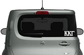 Amazon Com Kappa Kappa Gamma Die Cut Decal Sticker Car Truck Laptop 3 Pack White Automotive