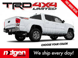 2x Trd 4x4 Limited Toyota Tacoma Tundra Truck Bed Side Vinyl Decals Stickers Ebay