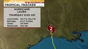 Category 2 Hurricane Laura moves inland across SW Louisiana