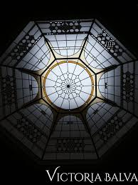 octagon stained and leaded glass dome