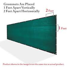Colourtree 8 Ft X 10 Ft Green Privacy Fence Screen Mesh Fabric Cover Windscreen With Reinforced Grommets For Garden Fence Tap0810 1 The Home Depot