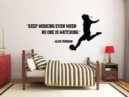 Girl Soccer Wall Decal Soccer Player Wall Sticker Soccer Etsy In 2020 Baby Room Decals Wall Decals Star Wars Wall Decal