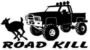Road Kill Deer Decal Truck Window Stickers Wildlife Decal