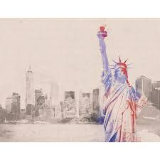 Artverse Watercolor New York City Skyline And Statue Of Liberty Removable Wall Decal Wayfair