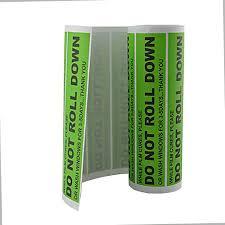 Do Not Roll Down 100 Pcs Roll Warning Sticker Decal Vinyl Green Window Tint