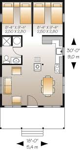 plan with 2 bedrooms and 1 5 baths
