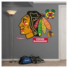 Chicago Blackhawks Fathead Decorative Wall Art Set 52 X 4 X 4 Target