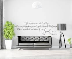 Vinyl Wall Decal Philippians 4 6 Do Not Be Anxious