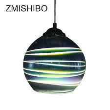 e27 led pendant lamp 3d colorful streak