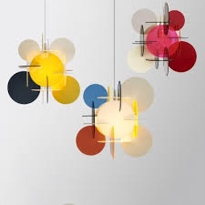 Acrylic Circular Shade Pendant Lighting Kids Room 1 Light Hanging Lamp In Multi Color Beautifulhalo Com