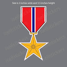 Mini Army Bronze Star Medal Bumper Sticker Vinyl Window Decal