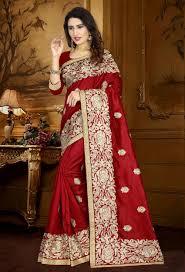 red zoya art silk designer saree srdjd52