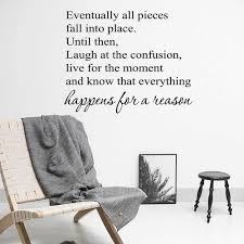 Eventually All Pieces Fall Into Place Inspirational Quotes Wall Decal Motivational Wall Sticker Living Office Art Decor J430 Wall Stickers Aliexpress