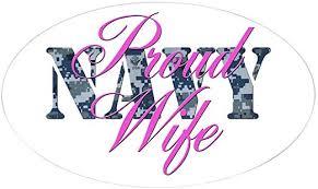 Amazon Com Cafepress Proud Navy Wife Nwu Oval Sticker Oval Bumper Sticker Euro Oval Car Decal Home Kitchen