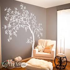 White Large Tree Wall Decal Tree Wall Decal Wall Mural Etsy