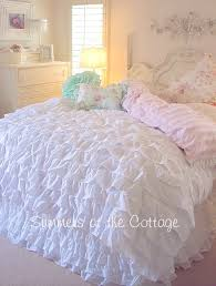 french bella white ruffles comforter