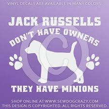 Jack Russell Terrier Minions Decal Sew Dog Crazy