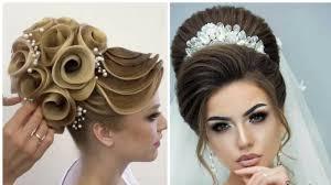 تسريحات شعرالعروس اجمل مشطات شعر خيالية 2018 Youtube