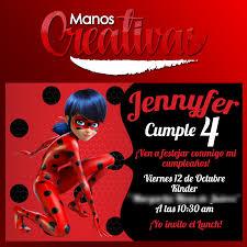 Invitaciones De Ladybug Cotizamos Manos Creativas Reynosa