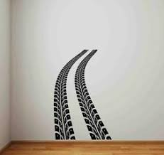 Tire Track Wall Decal Road Race Car Bed