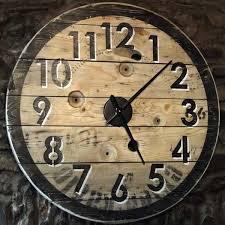reclaimed wood wall clock 105cm rustic
