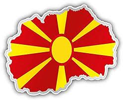 Amazon Com Macedonia Map Flag Car Bumper Sticker Decal 5 X 4 Home Kitchen