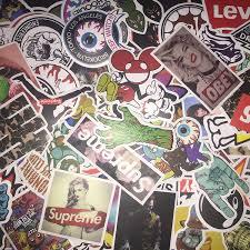 Amazon Com Not Random 100 Piece Skateboard Stickers Vintage Vinyl Laptop Luggage Decals Dope Sticker Mix Lot Kitchen Dining