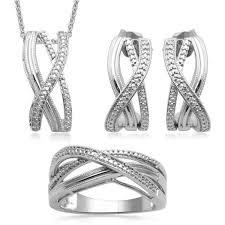 round micro set 925 silver jewelry