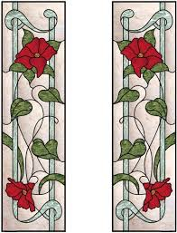vertical stained glass window with