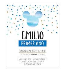 Invitacion Cumpleanos Mickey Blue Invitaciones De Cumpleanos